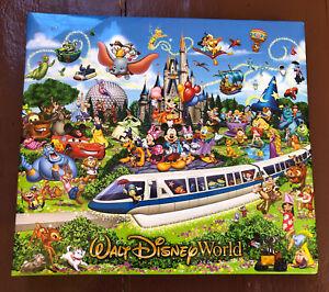 "Walt Disney World 14.5 x 12.75"" Photo Scrapbook Album Pages Pockets Multicolored"