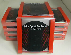 Lot Of 10 NIKE Sport Armbands For iPod Nano Black/Red - Brand NEW