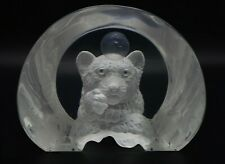 "William Schim Schimmel ""Wishing on the Moon"" Tiger Acrylic Sculpture Signed #'d"