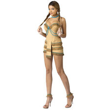 """Native American """"Dream Catcher"""" Costume Sexy Tan Faux Suede Fringed Dress Sm"""