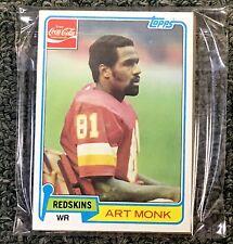1981 TOPPS COCA-COLA FOOTBALL CARD WASHINGTON REDSKINS SET (11) ART MONK RC MINT