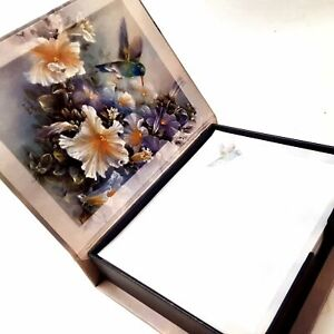 Lena Liu Hummingbird Stationary Paper and Decorative Box Holder