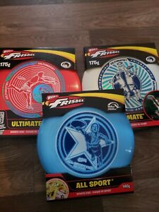 3 PACK Wham-O Ultimate Frisbee Sports Disc Red/White/Blue 175g Free Shipping