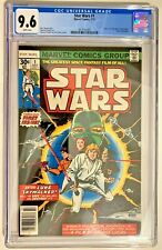 Star Wars #1 CGC 9.6 NM+ 1977 OW/W HOT KEY Book! A New Hope Movie Adaptation