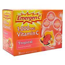 3 Pack Emergen-C Pink 1000 Mg Vitamin C Supplement Tropical 30 Packets Each