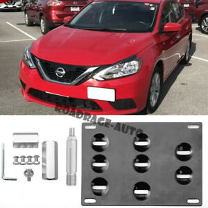 For 13-18 Nissan Sentra Sedan Tow Hook Hole Eye License Plate Relocate Bracket