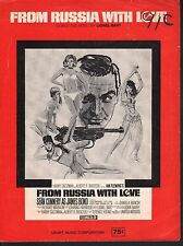 From Russia With Love 1963 Sean Connery as James Bond Sheet Music