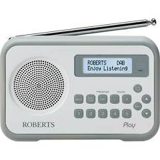 Roberts Play Built-in Battery Charger DAB/DAB+/FM RDS Radio in White