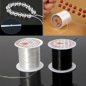 1 Roll Elastic Clear Beading Thread Stretch Polyester String for Bracelet Making
