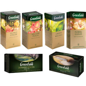 Green Tea Greenfield 25 Teabags Many Flavors Free Worldwide Shipping