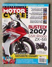 Motorcycle News AMCN Oct 2006 MV F4 ROCKET 3 TIGER 955 MORINI 9.5 SOFTAIL GP 800