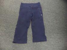 LULULEMON Navy Blue Nylon Blend Striped Cropped Elastic Waist Pants Sz 6 DD6618