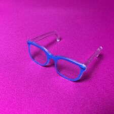 Unboxed Creatable World glasses 619 blue frame clear fit doll head 14.5cm around