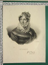 C1850 victorian french print ~ madame campan
