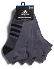 3 Pair Adidas Low Cut Socks, Men's Shoe Size 6-12 Gray, Athletic