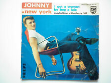 Johnny Hallyday 45T EP vinyle A New York / I Got A Woman disque B.I.E.M Chappell