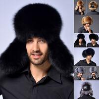 chapeau cosaque cuir d'agneau la fausse fourrure les hommes est chapeau russe