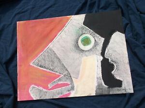 Abstract,Surrealist Fish Pastel?,Benoit Gilsoul,Pastel Drawing/Paper,Belgian