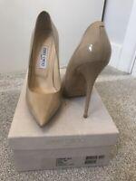 Jimmy Choo Anouk nude court heels pumps size 39.5 UK 6.5