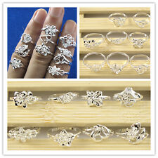 10pcs Wholesale Lots 925 Silver S925 Women Girl FLOWER Rings Mixed Design # 6-8