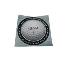 """NEW Titleist Silver/Black/White Round 6"""" Golf Ball Sticker"""