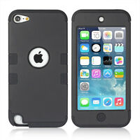 BLK High Impact Armor Hard&Soft Hybrid Case For iPod Touch iTouch 5th/6th Gen