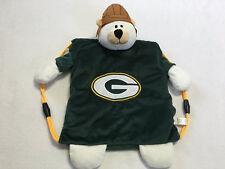 NEW Green Bay Packers Plush Teddy Bear Backsack Backpack Pal Bag NFL