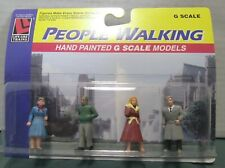 Life Like G Scale Hand Painted Walking People Figures #1174 New Sealed