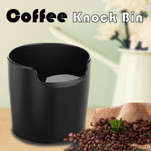 New Coffee Knock Bin  Espresso Grinds Tamper Waste Box Container Tamp AU Tube