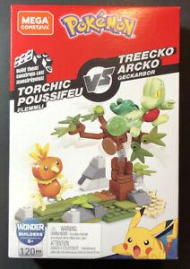 MEGA Construx Pokemon Battaglia Set [Torchic Vs Treecko] Nuovo