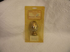 "Wood Gold Lotus Decorative Finial  NEW, 4 1/2"" Tall, Hardware is included."