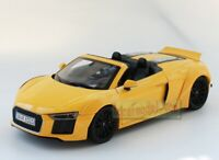 1/18 Scale Audi AUDI R8 Spyder V10 Diecast Car Model Yellow