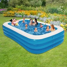 New listing Inflatable Pool for Kids and Adults - Family Rectangle Above Ground SwimmingPump