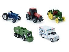 "NWT ERTL 1:64 John Deere & Ford Tractor 4"" Garbage Truck & Ambulance 3"" Tractor"