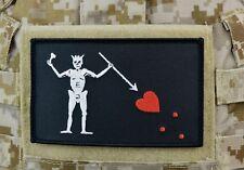 "Large Blackbeard Pirate Flag Patch 5"" x 3"" Navy SEAL Team 3 Edward Teach VELCRO®"