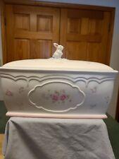 Pfaltzgraff Tea Rose Bunny Bread Box. Ex.Condition.