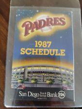 Padres 1987 Pocket Schedule