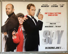 Cinema Poster: SPY 2015 (Advance Quad) Melissa McCarthy Jason Statham Jude Law