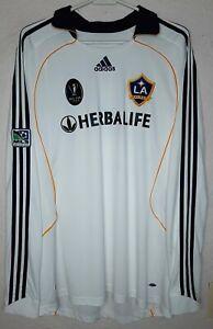 LA Galaxy Adidas Final MLS CUP 2009 David Beckham Home L/S Soccer Jersey