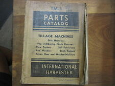 McCormick Deering tillage IH machines disk packers hoes harrows parts manual