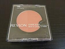 Revlon Creme (Cream) Blush w/PopUp Mirror - JUST PEACHY - Brand New / Sealed