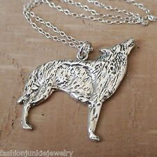 Wolf Pendant Necklace - 925 Sterling Silver - Dog Charm Werewolf Jewelry NEW
