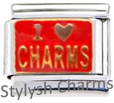 I Love Charms Stylish Enamel Italian Charm 9mm - 1 X Nc285 Single Bracelet Link