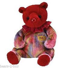NUOVO TY Bear Compleanno Pietra Rosso Rubino luglio Orsacchiotto ideale Love You Regalo Festa
