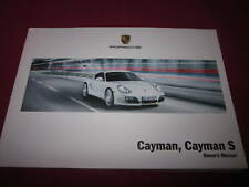 2009 PORSCHE CAYMAN & S OWNERS MANUAL OWNER'S NEW