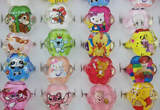 Mix Lot 20pcs Resin/Lucite Pretty Cartoon Cute child/Kid's Plum blossom Ring