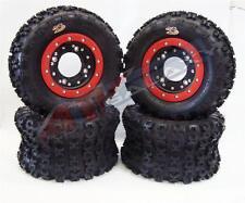 Hiper CF1 Beadlock Wheels GBC XC Master Tires Front/Rear Kit Honda 450R 400EX