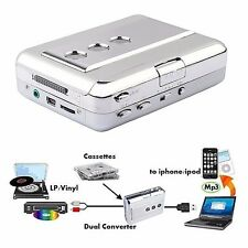 Portable Tape to MP3 Converter USB Cassette Player Lp/vinyl Record to PC iPod CD