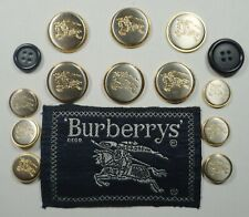 BURBERRYS Equestrian Knight Blazer Jacket 14 Replacement Buttons Set Great Cond