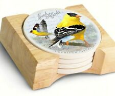 New listing American Expedition Goldfinch Stone Coaster, Set of 4